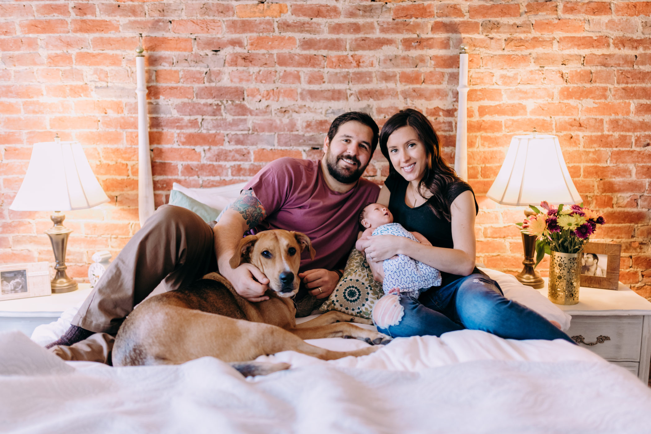 Newborn Lifestyle Session in lawrenceville pittsburgh