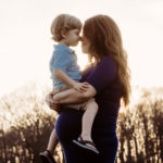 Sunset Maternity Session - A mother and her son